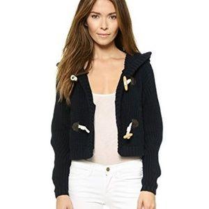 Tibi Toggle Chunky Knit Cardigan Sweater XS nwot